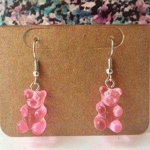 Gummy Bear Earrings (Pink)
